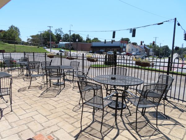 Outdoor Seating Area at Daily Grind