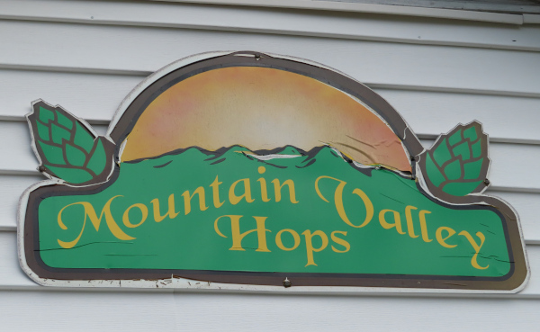 Mountain Valley Hops Sign