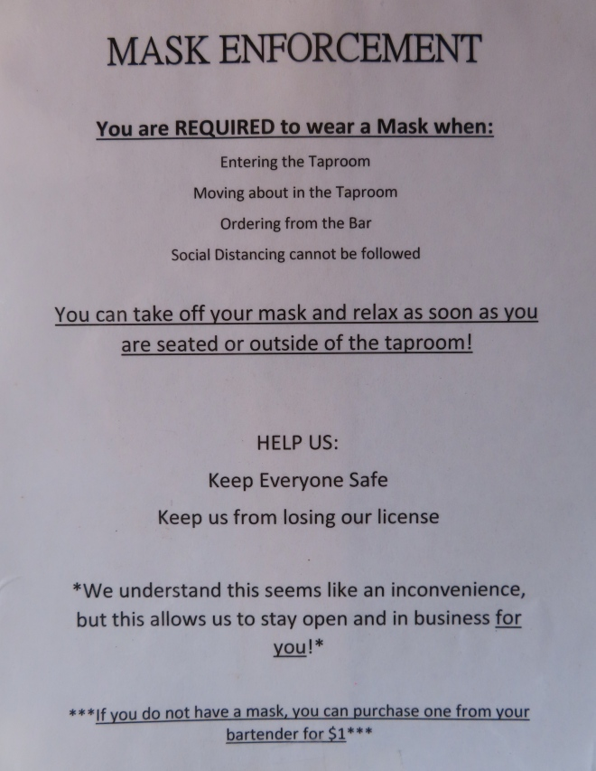 Mountain Valley Brewery Mask Policy