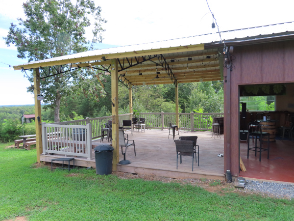 The Covered Back Deck Off of the Pavilion