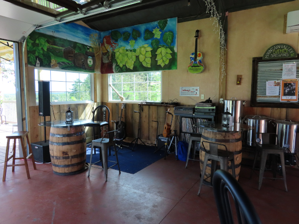 Musician's Area in the Pavilion Tap Room