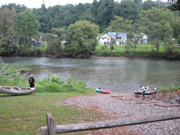 Getting in the Water at South Martinsville Access Point