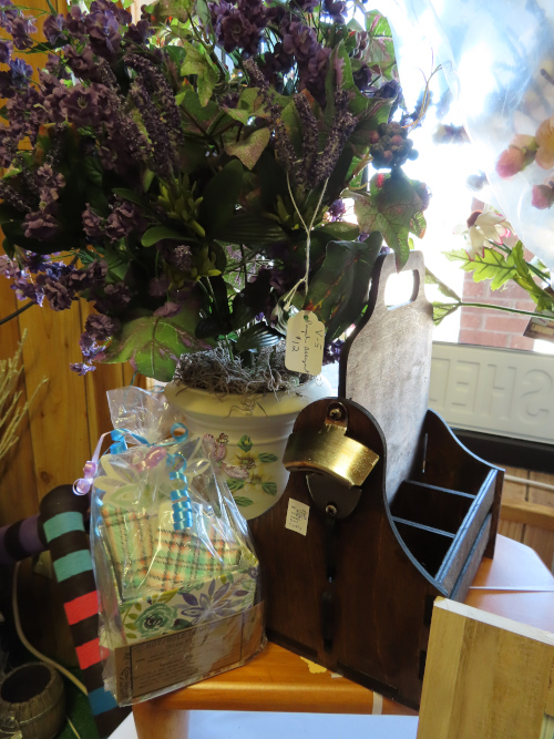 An arrangement of lavender for $12 and a Dad Pack for $24.50