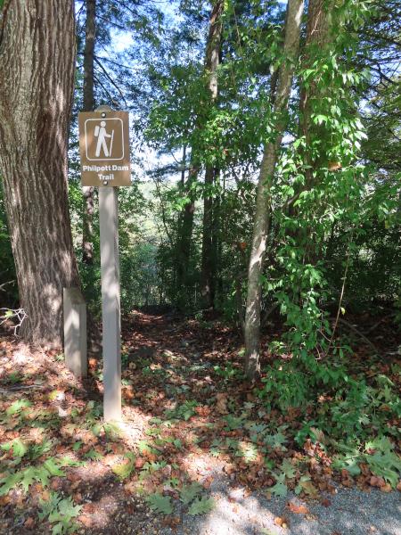 Trail Head for Philpott Dam Trail