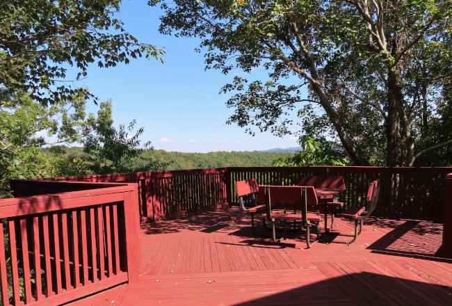 Deck Behind the Visitor Center